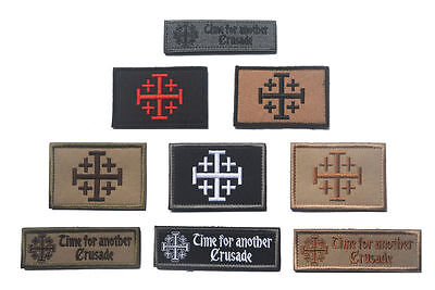 Flag patch patches templar knights jerusalem shield tactical indifdel crusader