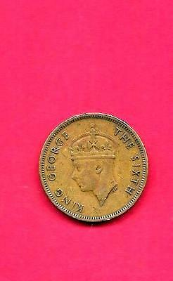 Hong Kong Km25 1949 Vf-Very Fine-Nice Old Vintage Circulated 10 Cents Coin