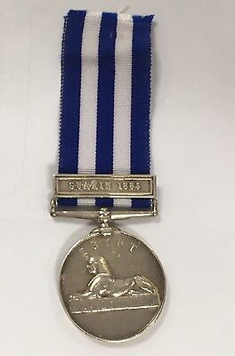 Victorian Silver Medal Suakin 1885 Clasp PTE Harrison Ribbon