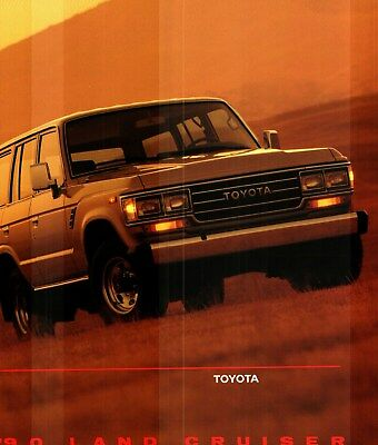 1990 Toyota Land Cruiser Deluxe Color Sales Folder