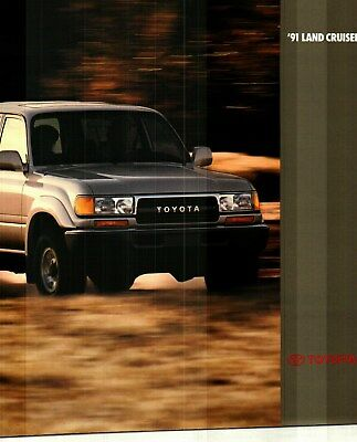 1991 Toyota Land Cruiser 12 Page Deluxe Color Sales Catalog