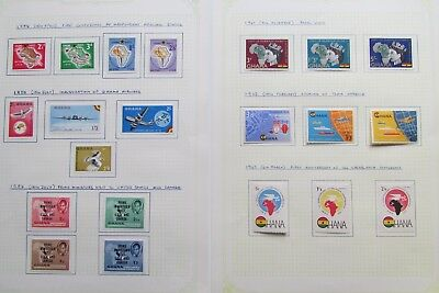 XL3064: Ghana Mint Stamp Sets (1958 - 62)