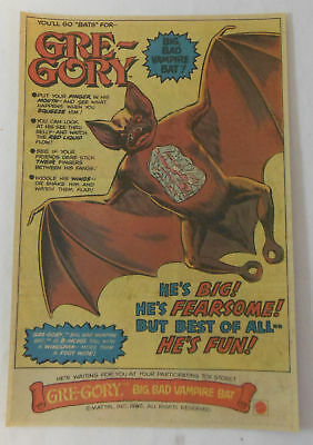 1980 Mattel GRE-GORY toy vampire bat ad page~Gregory