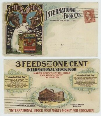 Mr Fancy Cancel 2c ILLUSTRATED COLOR 2-SIDED AD COVER INTERNATIONAL FOODS 1902