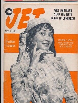 11/6/1958 Jet Magazine MARYLAND SEND 5th Negro to Congress ADRIENNE DEJOIE HAITI