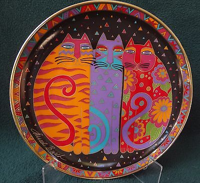 LAUREL BURCH CAT PLATE Fanciful Felines