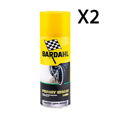 Bardahl Bardhal Grasso Catena Spray Moto Cross Enduro Foamy Chain Lube 2x400ml