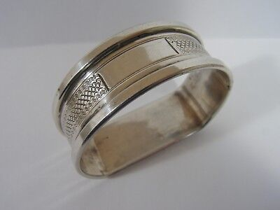 VINTAGE ENGLISH HALLMARKED STERLING SILVER NAPKIN RING HENRY GRIFFITH & Sons ltd