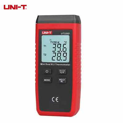 UNI-T UT320D LCD Thermometer Dual-channel K/J Thermocouple Temperature Meter