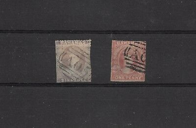 Bahamas 1d rough perf SG #4 and #6a 6d good condition for these, £825  (#0333b)