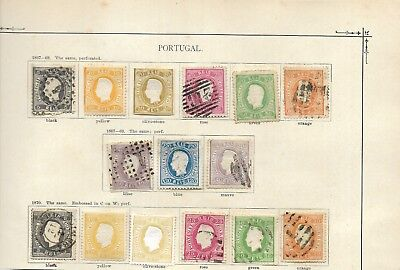 Portugal #25 - #33, etc mostly used min cat $1500  (#0387b)