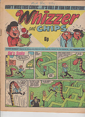Whizzer and Chips Vintage Old UK Paper COMIC 21 August 1976