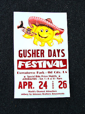 Yellow & Maroon Designer Colors Gusher Days Festival Advertising Sign Poster