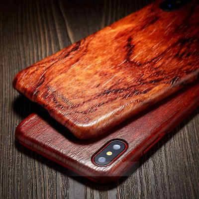 For iphone X 8 Plus 7 6s 6 100% Natural Wooden Wood Phone shockproof Case Cover
