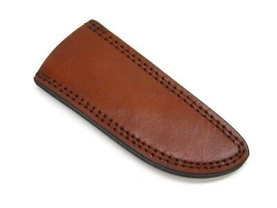 """BROWN Leather PA660709 SHEATH For Straight Fixed Knife Up To 6-1/2"""" Blade New!"""