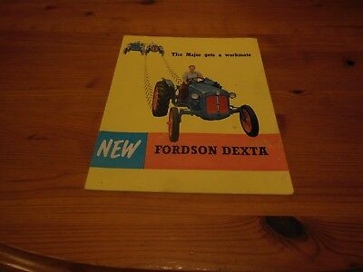 'The Major gets a workmate'   NEW FORDSON DEXTA - 24 PAGE SALES BOOKLET - GOOD!