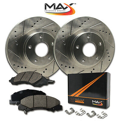 FULL KIT BLACK HART DRILLED SLOTTED BRAKE ROTORS AND CERAMIC PAD BHCC.46025.02