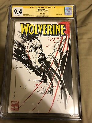 Wolverine #1 Blank Sketch Cover Variant CGC 9.4 SS Signed & Sketched by Jock NM