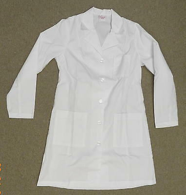 Lab Jacket Women's Premier 161 Medical Uniform Button Pocket Coat White 14 New