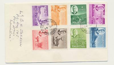 MAURITIUS 1951 VALUES TO 2R50c ON COVER LOCAL USAGE  (SEE BELOW