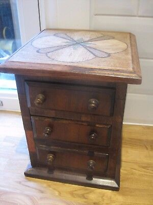 Useful Apprentice piece miniature small wooden chest of drawers - shabby chic