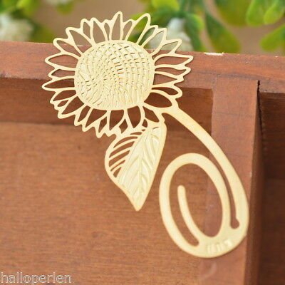 1PC Bookmarks Sunflower Chic Reading Gift Office Supplies Exquisite Art Craft