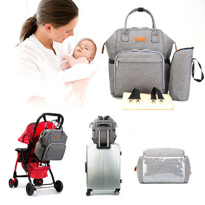 Baby Diaper Nappy Bag Backpack for Mom and Dad Organizer Pouch & Changing Pad