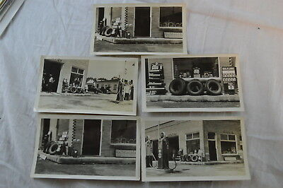 5 Vintage 1930s Photos Tires & Supplies at Gulf Gas Station 830006
