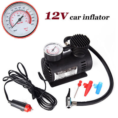 Portable Mini Air Compressor Auto Car Electric Tire Air Inflator Pump 12V 300PSI