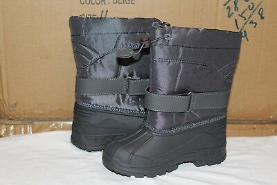 e1b92cff0 BRAND NEW BOYS Snow Boots Winter Black Puffy Size 6-10 Toddler ...