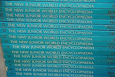 19 books The New Junior World Encyclopedia 1977 vintage books