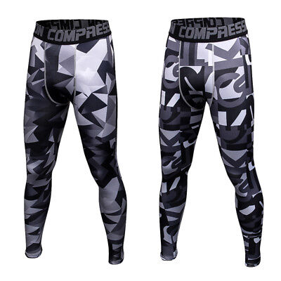 d80f824cf0285 Men Apparel Compression Tight Base Layer Pants Long Leggings Gym Sports  Trousers