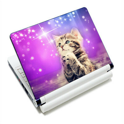 "Cute Cat Sticker Skin Cover For 12 -15.6"" Sony HP Dell Acer Toshiba Laptop"