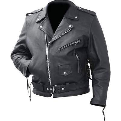 Motorcycle Jacket Men's Cowhide Leather Classic Rocky Mountain Hides Medium- 3XL