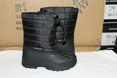 Brand New Boys/Girls Snow Boots Winter Black Puffy Size 11-2,3-8