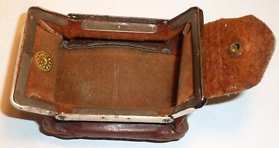 Vintage Flat Folding Leather Coin Change Purse