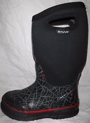 BOGS Youth Boys Size 12 Waterproof Insulated Pull On Winter Snow Boots