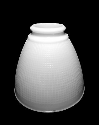 "VINTAGE WHITE MILK GLASS TORCHIERE DIFFUSER SHADE ~ 4 3/4"" high ~ 2"" fitter"