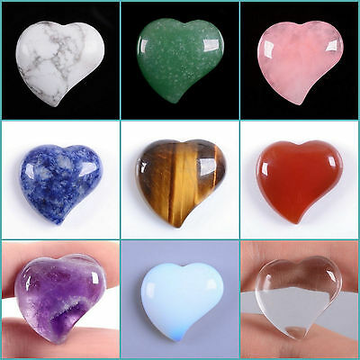 25mm Rock crystal Heart shaped flatback cab cabochon 1 inch Save $ in bulk