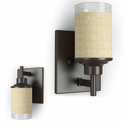 Vanity Light Wall Mounted One-Light Bathroom Vanity Fixture Antique Bronze Bulb