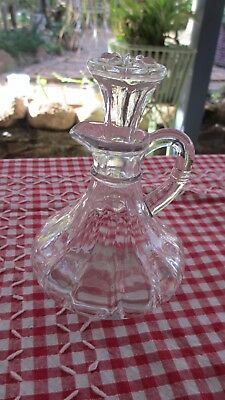 Vintage Glass Sauce or Dressing Decanter / Bottle with glass stopper