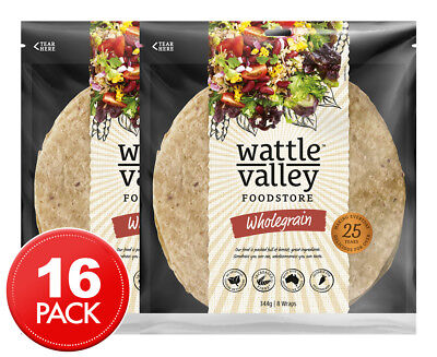 2 x Wattle Valley Wholegrain Soft Wraps 344g 8pk