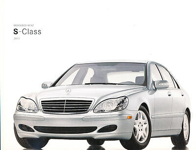 2003 mercedes benz s-class 38-page sales brochure catalog s500 s600 s55 amg