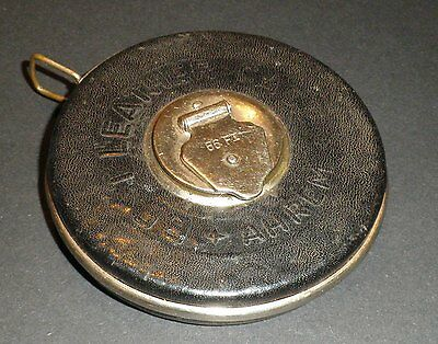 Old Leather TAPE MEASURE   AHREN BEST LEATHER CASE Brand  Steel tape