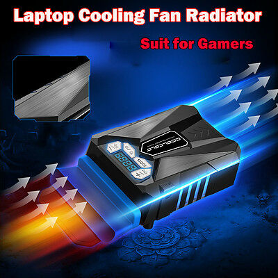 LED Adjustable USB Laptop Cooling Pad Cooler Fan Radiator for Laptop PC Black