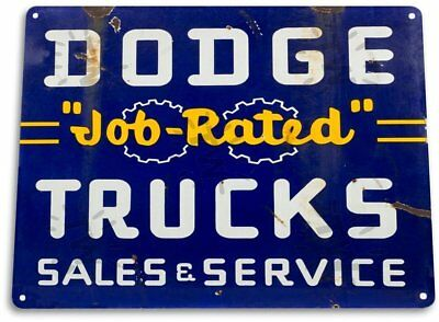 Dodge Job Rated Trucks Parts Service Vintage Retro Tin Metal Sign