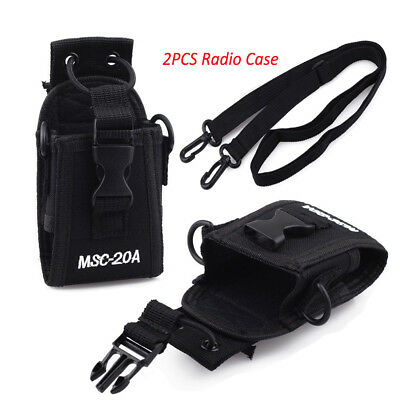 2PCS Two Way Walkie Talkie Holster Belt Radio Case For GP338+, GP328+, HT750