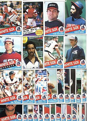 Topps 1985 Chicago White Sox Complete Set-31 Cards