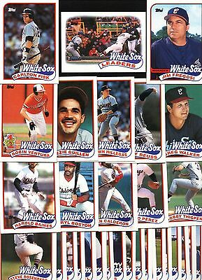 Topps 1989 Chicago White Sox Complete Set-32 Cards