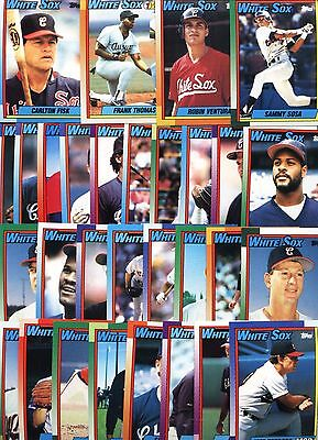 Topps 1990 Chicago White Sox Complete Set-31 Cards